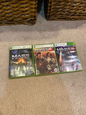 XBOX 360 games - Mass effect 1, 2, 3 for Sale in Olney, MD