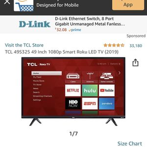 TCL 49 Inch Led Roku Tv for Sale in Silver Spring, MD