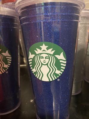 Silver,blue and red Starbucks cups for Sale in Vacaville, CA