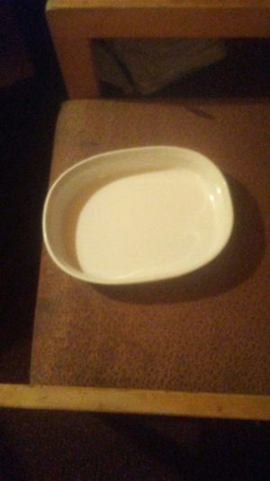 Oval Corningware Baking Dish (1.8 liter)-French White Design for Sale in Northfield, NJ