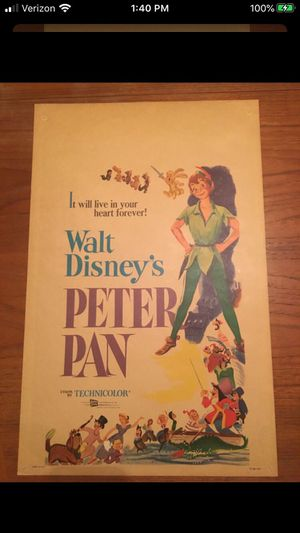 Vintage Peter Pan Poster for Sale in Portland, OR