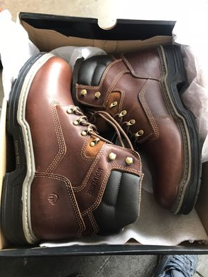 Wolverine Men's Raider 6'' Work Boots - Soft Toe - Brown Size 10.5(W) for Sale in Temple City, CA