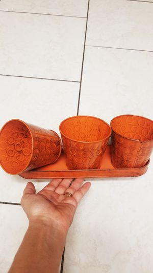New Plant pots set in it's box great for gift or window planter !.I have 4 sets for Sale in Lathrop, CA