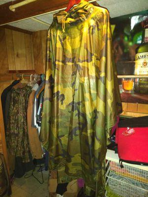 Mens military style camo poncho for Sale in Smyrna, GA