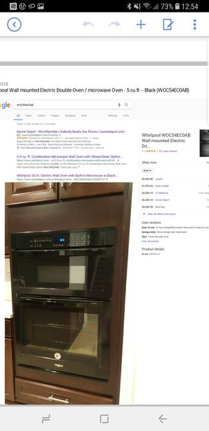 Whirlpool Wall mounted Electric Double Oven / microwave Oven - 5 cu ft – Black (WOC54EC0AB) for Sale in Zephyrhills, FL