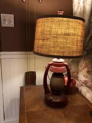 Vintage Red Lantern Table Lamp for Sale in Suffolk, VA