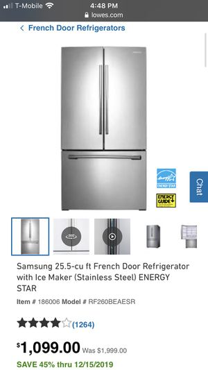 Samsung Refrigerator for Sale in Fort Washington, MD