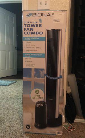 Biona ultra slim Tower Fan combo for Sale in Centennial, CO