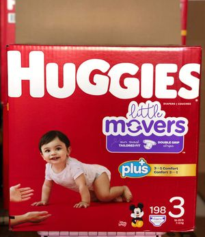 Huggies little movers size 3 for Sale in Norwalk, CA