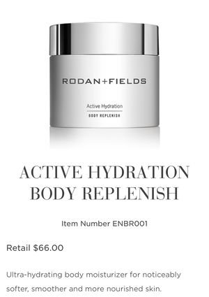 Rodan & Fields Active Hydration Body Moisturizer Cream for Sale in San Diego, CA
