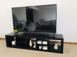 LG 65 inch TV with Ikea Table for Sale in Des Plaines, IL