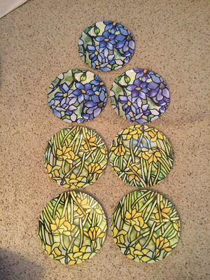 TIFFANY STUDIOS VINTAGE ALUMINUM PLATE SET of 7 for Sale in Bayport, NY
