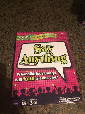 Say Anything Board Game for Sale in Peoria, AZ