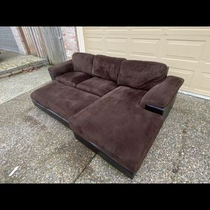 Sexy Chocolate Brown 3-Piece Sectional, measurements in description for Sale in Portland, OR