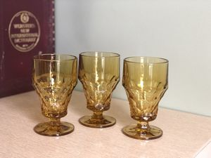Vintage amber glasses for Sale in Williamsburg, VA