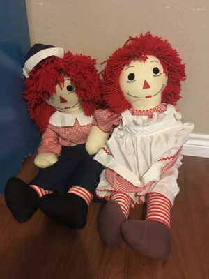 Raggedy Ann and Andy dolls for Sale in Arlington, TX
