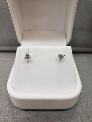 14K WHITE GOLD DIAMOND EARRINGS for Sale in Mesa, AZ