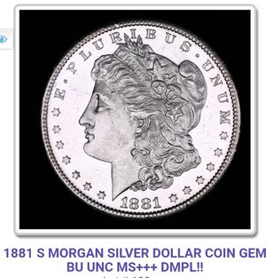 1881 S MORGAN SILVER DOLLAR COIN GEM BU UNC MS+++ DMPL!! for Sale in Boca Raton, FL