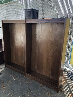 Wood stained bookshelves for Sale in Moreno Valley, CA