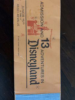 Vintage Disneyland Jr Ticket Book for Sale in Los Gatos,  CA