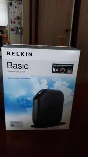 Belkin basic wireless router for Sale in Hornell, NY