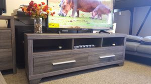 Galaxy TV Stand up to 70in TVs, Distressed Grey Finish for Sale in Santa Ana, CA