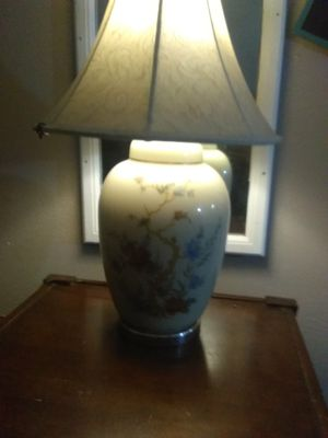 Lamp with Oriental print for Sale in Wichita, KS