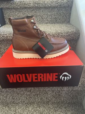 Wolverine work boots with Safety toe/Botas de trabajo Wolverine con casquillo for Sale in Highland, CA