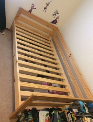 Ikea twin bed frame (with side rail) for Sale in Tacoma, WA