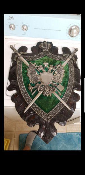 Vintage Coat of Arms (metal/felt front, wood back) for Sale in Alexandria, VA