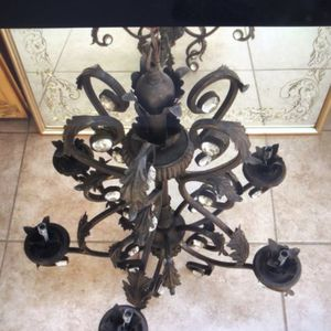"""Antique Oil brushed bronze five light chandelier Iron It's 35"""" tall and 25"""" wide for Sale in Pico Rivera, CA"""