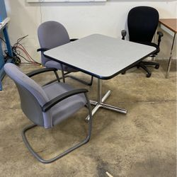 Square Office Table And Chair Set for Sale in Bedford,  OH