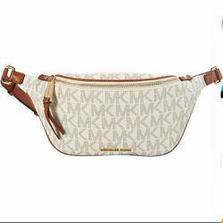 MICHAEL kors Small Rhea Zip Signature Belr bag(Vanilla) for Sale in Durham,  NC
