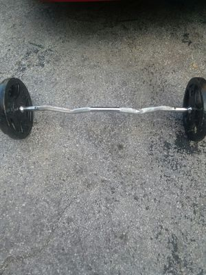 80lbs steel weights including bar and claps for Sale in Chicago, IL
