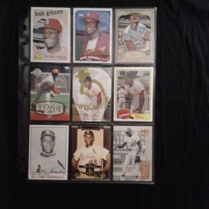 (9) Different BON GIBSON Baseball Card Lot St Louis Cardinals for Sale in Redmond, WA