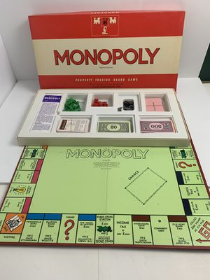Monopoly John Waddington London Leeds 1961 All Original Board Game for Sale in Elgin, IL