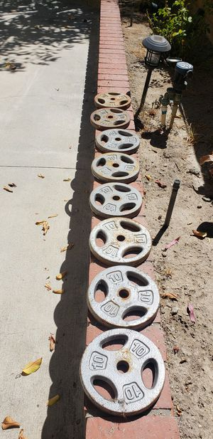 """8X10LB WEIGHT PLATES 1"""" for Sale in Bell Canyon, CA"""
