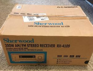 Sherwood 200w AM/FM Stereo Receiver RX-4109 NEW IN BOX for Sale in Atlanta, GA