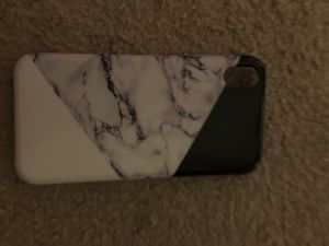 Black,marble and white glossy iPhone XR case (never used) for Sale in Fairfax, VA
