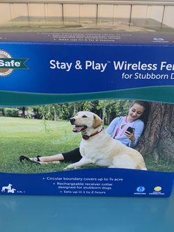 PetSafe Above Ground Stay & Play Wireless Fence for Stubborn Dogs for Sale in Burien,  WA