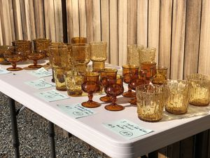 Amber vintage glass for Sale in Seattle, WA