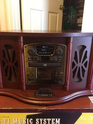 Hi-Fi music system KLH with iPod dock KL-300i stereo for Sale in Mountain View, CA