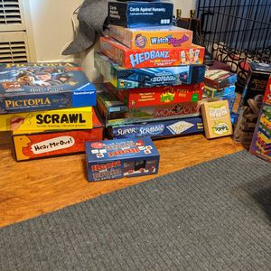 Board Games, Pet Bed, Humidifier, Hood Ornament, Etc.... for Sale in Long Beach, CA