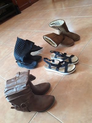 Womens girls boots and shoes for Sale in Miami Gardens, FL