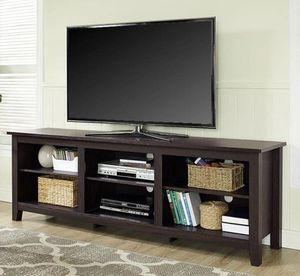 """70"""" Espresso TV stand console - New In Box for Sale in Taylor, MI"""