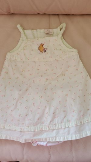 Classic Pooh 18 months infant girls dress with matching diaper cover for Sale in Appleton, WI