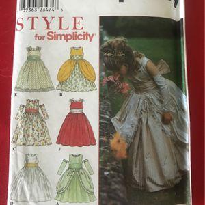 Sewing Pattern Simplicity 8953 Girls Bridal Flower Girl Dress Size 4-8 for Sale in Phoenix, AZ