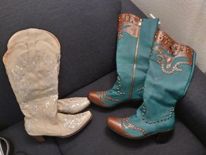 Female dance cowgirl boots western wear cowboy boots for Sale in Houston, TX