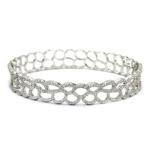 Silver hollow micro crystal bracelet for Sale in Redwood City, CA