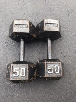 50lb dumbbells for Sale in Jenkintown, PA